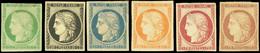 * Réimpression. 6 Pièces Dont N°2 (*) Et N°6 X 2. B à TB. - 1849-1850 Ceres