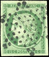 O 15c. Vert. Obl. étoile. Belles Marges. SUP. - 1849-1850 Ceres