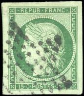 O 15c. Vert Foncé. Grandes Marges. SUP. - 1849-1850 Ceres