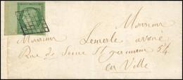 O 15c. Vert, BdeF, Obl. Losange S/lettre Locale Frappée Du CàD De PARIS * 5 * Du 16 Mai 1854. Réparation Esthétique. TB. - 1849-1850 Ceres