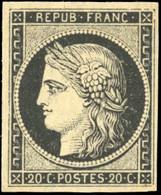 ** 20c. Noir Sur Blanc. SUP. - 1849-1850 Ceres