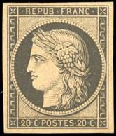 ** 20c. Noir. Réimpression 1862. SUP. - 1849-1850 Ceres