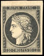 * 20c. Noir S/blanc. Petit Haut De Feuille. SUP. - 1849-1850 Ceres