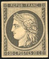 * 20c. Noir. Réimpression 1862. TB. - 1849-1850 Ceres