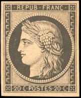 * 20c. Noir S/jaune. Réimpression. SUP. - 1849-1850 Ceres
