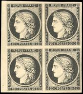 (*) 20c. Noir S/blanc. Bloc De 4. Petit BdeF. TB. - 1849-1850 Ceres