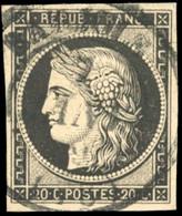 O 20c. Noir S/blanc. Obl. CàD Du 7 Janvier. SUP. - 1849-1850 Ceres