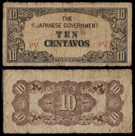 PHILIPPINES - WWII JAPANESE GOVERNMENT BANKNOTE - 10 CENTAVOS (1942) P#104 VG/F (NT#05) - Other