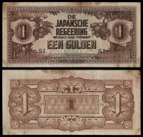 NETHERLANDS INDIES - WWII JAPANESE GOVERNMENT BANKNOTE - 1 GULDEN (1942) P#123c F/VF (NT#05) - Other