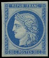 * 20c. Bleu Clair. Réimpression GRANET. SUP. - 1870 Besetzung Von Paris