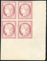 (*) 40c. Rouge. Essai En Bloc De 4. CdeF. SUP. - 1870 Besetzung Von Paris