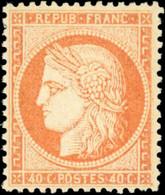 * 40c. Orange. Très Bien Centré. TB. - 1870 Besetzung Von Paris