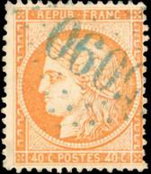 O 40c. Orange. Obl. GC En Bleu 5090 De KERASSUNDE. SUP. - 1870 Besetzung Von Paris
