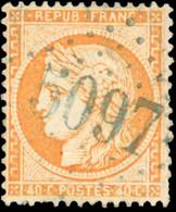 O 40c. Orange. Obl. En Bleu 5097 De SINOPE. SUP. RR. - 1870 Besetzung Von Paris