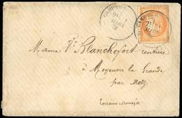 O 40c. Orange Obl. S/lettre Frappée Du CàD Type 18 CAMP DU RUCHARD - INDRE-ET-LOIRE Du 31 Mars 1876 à Destination De MOY - 1870 Besetzung Von Paris