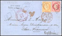 O 40c. Orange + 80c. Rose Obl. GC 904 S/lettre Frappée Du CàD De PARIS - CHARONNE Du 16 Décembre 1871 à Destination De S - 1870 Besetzung Von Paris