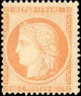 * 40c. Orange Très Clair. Très Frais. Décentré. - 1870 Besetzung Von Paris