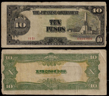 PHILIPPINES - WWII JAPANESE GOVERNMENT BANKNOTE - 10 PESOS (1943) P#111 F/VF (NT#05) - Other