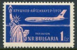 BULGARIA 1959 Khurshchev Visit Perforated MNH / **.  Michel 1141A - Nuevos