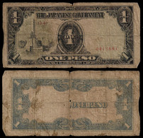 PHILIPPINES - WWII JAPANESE GOVERNMENT BANKNOTE - 1 PESO (1943) P#109a F (NT#05) - Other