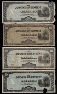 PHILIPPINES - WWII JAPANESE GOVERNMENT BANKNOTE - 4 NOTES 10 PESOS (NT#05) - Other
