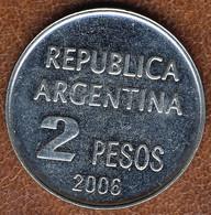 Argentina 2 Pesos 2006, Defense Of Human Rights, KM#161.1, AUnc - Argentina