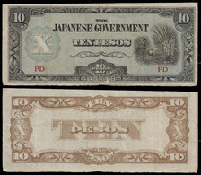 PHILIPPINES - WWII JAPANESE GOVERNMENT BANKNOTE - 10 PESOS (1943) P#108 F/VF (NT#05) - Other