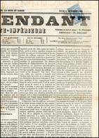 O 2c. Bleu Obl. Sur Journal L'INDEPENDANT Du 2 Décembre 1869. SUP. - Zeitungsmarken (Streifbänder)