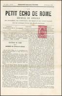 O 2c. Rose Obl. Sur Journal Complet LE PETIT ECHO DE ROME Du 21 Novembre 1869. SUP. - Zeitungsmarken (Streifbänder)