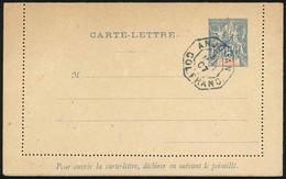 O Entiers Postaux - Carte Lettre Du 15c. Bleu N°CL1 Obl. ANJOUAN COL. FRANC. Du 31 Mai 1907. TB. - Unclassified