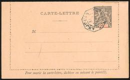 O Entiers Postaux - Carte-Lettre Du 25c. N°CL4. Obl. ANJOUAN. TB. - Unclassified