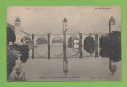 """CPA """"Dept 46""""CAHORS """"LE PONT VALENTRE""""dit PONT DU DIABLE""""le Lot Illustré""""affranchissement 1908 Timbré 5 Centimes - Cahors"""
