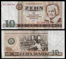 GERMANY DDR BANKNOTE - 10 MARK 1971 P#28a F/VF (NT#05) - 10 Mark