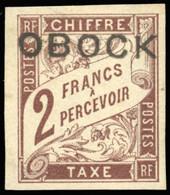 * Timbres-Taxe - 1F. Marron + 2F. Marron. 2 Valeurs. SUP. - Non Classés