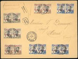 O 34 X 10 + 35 X 10. 1c. + 2c. + 4c. X 10 Obl. S/lettre Frappée Du CàD De YUNNAN-FOU CHINE Du 20 Janvier 1914 à Destinat - Unclassified