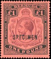 * 3 Values. Optd. SPECIMEN. N#54 X 2 Different Overprint. VF. - Bermuda