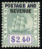 * 2$.40 Green And Violet. VF. - British Guiana (...-1966)