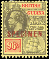 * 4 Values. Optd. SPECIMEN. VF. - British Guiana (...-1966)