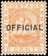 * Official Stamp - 2c. Orange. VF. - British Guiana (...-1966)