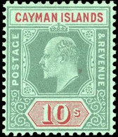 * 10s. Green And Red. VF. - Cayman Islands