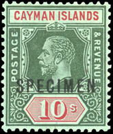 * 2 Values. Optd. SPECIMEN And 1 Piece White Back. VF. - Cayman Islands