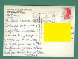 Flamme De 50 Pontorson Du 27 7 1982 ( Pèlerin, Coquille Saint Jacques, Coquillage, Shell Sur CP Du Mont Saint Michel - Mechanical Postmarks (Advertisement)