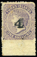 * 2 1/2 On 1sh. Lilac. Bottom Of Sheet. SUP. - Turks E Caicos