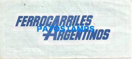 157220 ARGENTINA  TRAIN TREN FERROCARRILES ARGENTINOS MAR DEL PLATA - CONSTITUCION TICKET PASAJE NO POSTAL POSTCARD - Unclassified