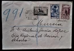 855 MAROC MARRUECOS MOROCCO MAROKKO TETUAN 1933 URGENTE CERTIFICADO AMBULANTE MARITIMO CEUTA ALGECIRAS CADIZ - Spanish Morocco