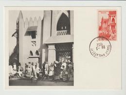CPM  SOUDAN FRANCAIS/1952/MARCHE DE BAMAKO /PUB. PHARMACEUTIQUE AU VERSO - Sudan