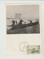CPM  SOUDAN FRANCAIS/1952/ PIROGUE SUR LE NIGER/PUB. PHARMACEUTIQUE AU VERSO - Sudan