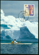 Mk Greenland Maximum Card 2000 MiNr 356 | Cultural Heritage. Wooden Map - Maximum Cards