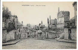 CPA VOUZIERS 1918 RUE DE L'AISNE   TBE - Otros Municipios