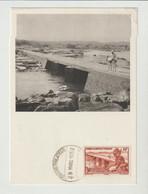 CPM  SOUDAN FRANCAIS/1952/ CHAUSSEE SUBMERIBLE  / BAMA/KO / PUB. PHARMACEUTIQUE AU VERSO - Sudan